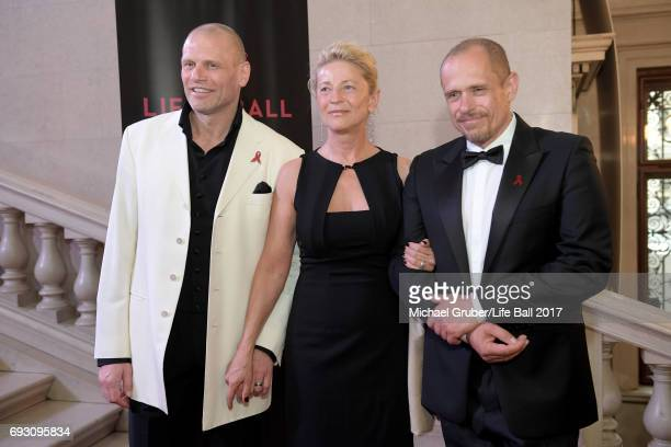 Bo Skovhus Ingrid Haimboeck and Gery Keszler attend the Life Celebration Concert at Burgtheater on June 6 2017 in Vienna Austria The concert marks...