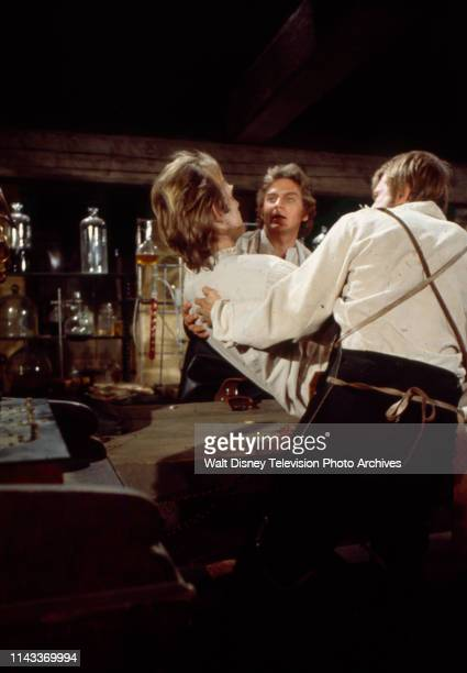 Bo Svenson as the Frankenstein Monster Robert Foxworth as Doctor Frankenstein John Karlen appearing in the Walt Disney Television via Getty Images tv...