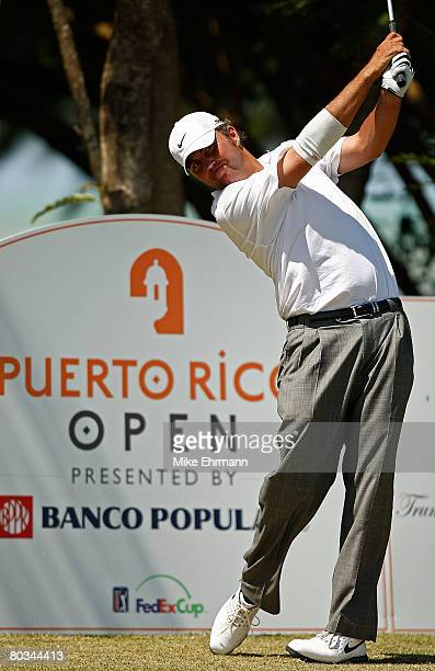 Bo Van Pelt hits his tee shot on the 13th hole during the third round of the Puerto Rico Open presented by Banco Popular held on March 22 2008 at...