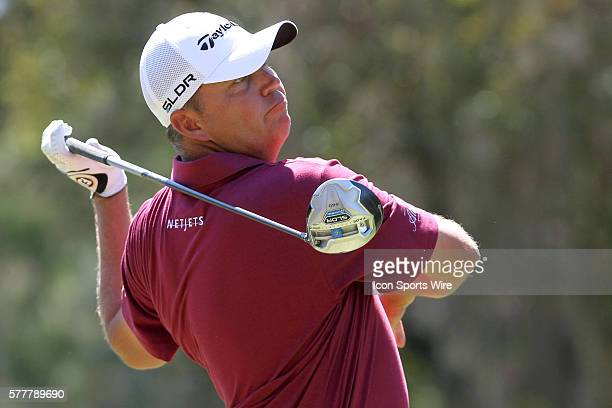 Bo Van Pelt tees off during the second round of the Valspar Championship at Innisbrook Resort - Copperhead in Palm Harbor, Florida.