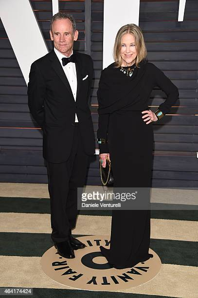 Bo Welch and Catherine O'Hara attend 2015 Vanity Fair Oscar Party Hosted By Graydon Carter at Wallis Annenberg Center for the Performing Arts on...