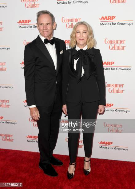 Bo Welch and Catherine O'Hara attend the 18th Annual AARP The Magazine's Movies For Grownups Awards at the Beverly Wilshire Four Seasons Hotel on...