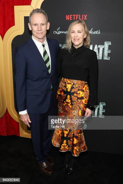 Bo Welch and Catherine O'Hara attend the the Season 2 premiere of Netflix's A Series Of Unfortunate Events at Metrograph on March 29 2018 in New York...