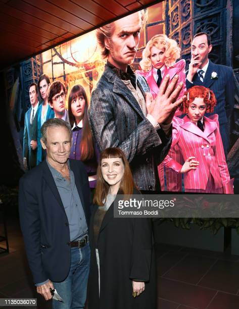 Bo Welch and Cynthia Summers attend Netflix's A Series of Unfortunate Events Red Carpet and Reception at Netflix Home Theater on March 10 2019 in Los...