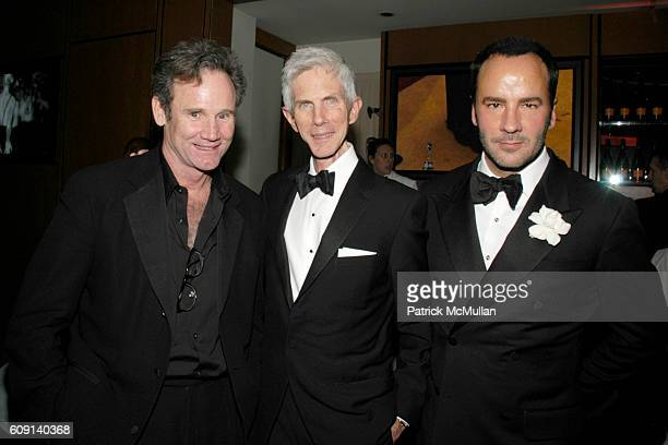 Bo Welch Richard Buckley and Tom Ford attend VANITY FAIR Oscar Party at Morton's on February 25 2007 in Los Angeles CA