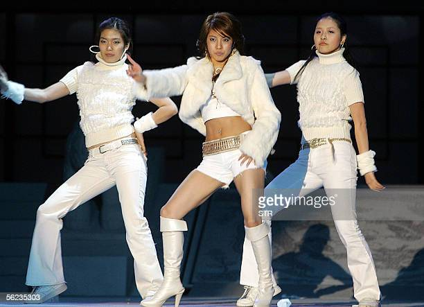 BoA, a South Korean pop star popular in Japan and other Asian countries perform for the Asia Pacific Economic Cooperation leaders attending the...