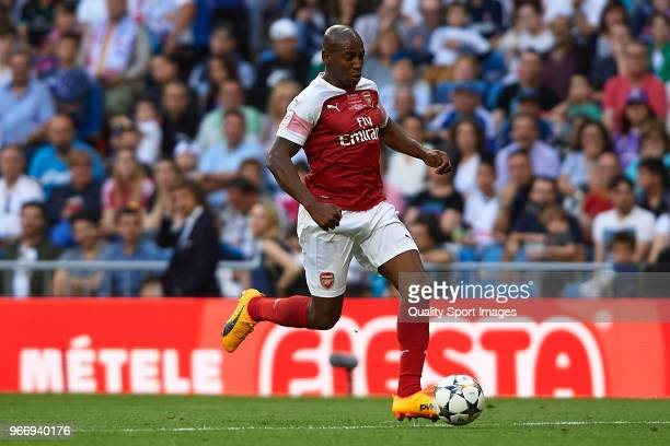 Boa Morte of Arsenal Legends in action during the Corazon Classic match between Real Madrid Legends and Arsenal Legends at Estadio Santiago Bernabeu...