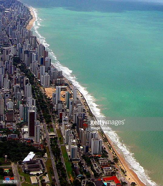 boa viagem beach - recife stock-fotos und bilder