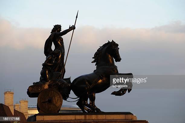 Boadicea statue London England.