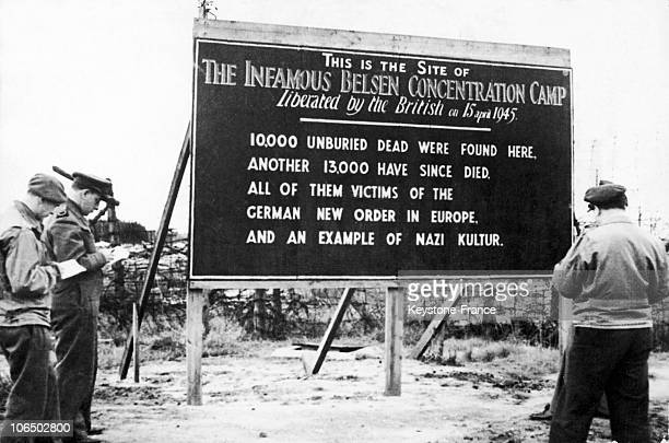 Board At The Entrance Of The Burnt Camp Reminding Of Horror Perpetrated 19450922