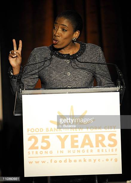 Board Chair of Food Bank For New York City Carla Harris on stage during the Food Bank For New York City's 5th Annual CanDo Awards Dinner at Abigail...