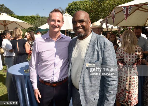 Board Chairman Kieran Breen and BAFTALA Controller Pete Modeste attend the BAFTALA Summer Garden Party at The British Residence on August 19 2018 in...