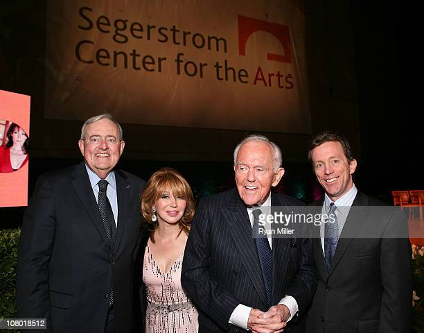 Board Chairman Thomas McKernan Elizabeth Segerstrom Founding Chairman Henry Segerstrom and Center President Terry Dwyer pose at the Orange County...