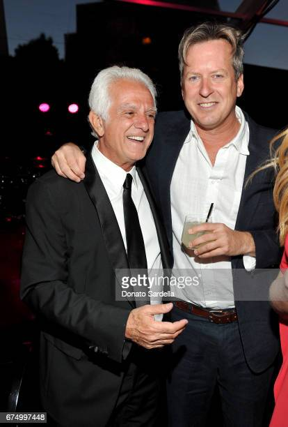 Board CoChair Maurice Marciano and Director Doug Aitken at the MOCA Gala 2017 honoring Jeff Koons at The Geffen Contemporary at MOCA on April 29 2017...