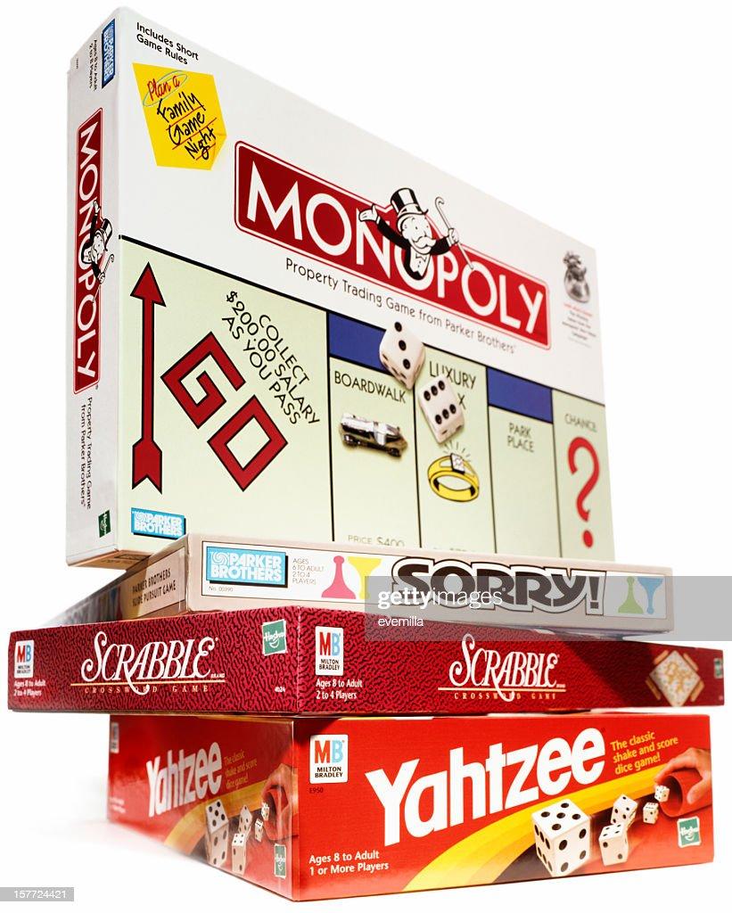 Jogos de tabuleiro : Foto de stock