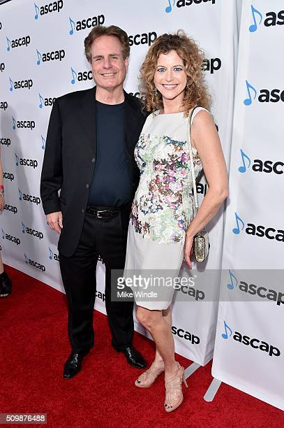 Board Member Dan Foliart and PBS Host Laura Savini Webb attend the ASCAP Grammy Nominees Reception at SLS Hotel on February 12 2016 in Beverly Hills...