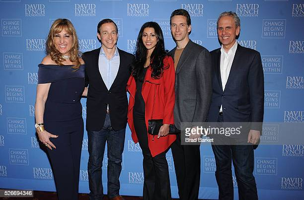 Board Member David Lynch Foundation Joanna Plafsky actress Reshma Shetty 'Royal Pains' Executive Producer Michael Rauch actor Ben Shenkman and...