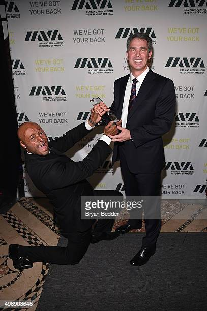Board Member IAVA J R Martinez and Honoree Scott Wine attend the 9th Annual IAVA Heroes Gala at the Cipriani 42nd Street on November 12 2015 in New...