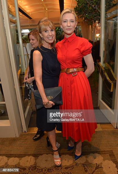 BAFTA board member Julia Verdin and actress Cate Blanchett attends the BAFTA LA 2014 Awards Season Tea Party at the Four Seasons Hotel Los Angeles at...