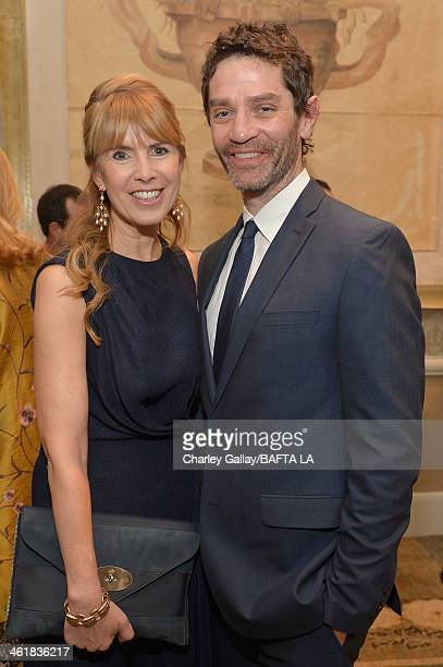 BAFTA board member Julia Verdin and James Frain attend the BAFTA LA 2014 Awards Season Tea Party at the Four Seasons Hotel Los Angeles at Beverly...