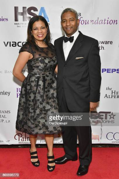 Board Member Karen Sanders and Howard Sanders attend HSA Masquerade Ball on October 23 2017 at The Plaza Hotel in New York City
