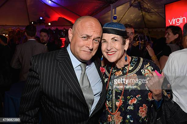 BAFTA board member Nigel Daly and Tziporah Salamon attends the 2014 GREAT British Oscar Reception at British Consul General's Residence on February...