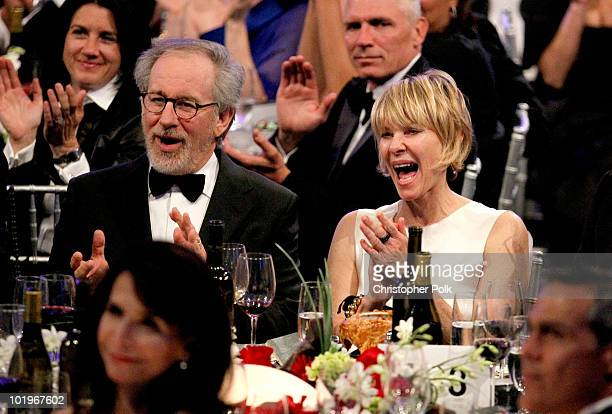 Board Member Steven Spielberg and Kate Capshaw in the audience during the 38th AFI Life Achievement Award honoring Mike Nichols held at Sony Pictures...