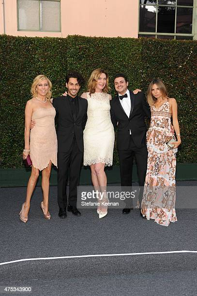 Board member Sutton Stracke, Joey Maalouf, Amber Sakai, Jeff Festa and Erica Pelosini attend the 2015 MOCA Gala presented by Louis Vuitton at The...