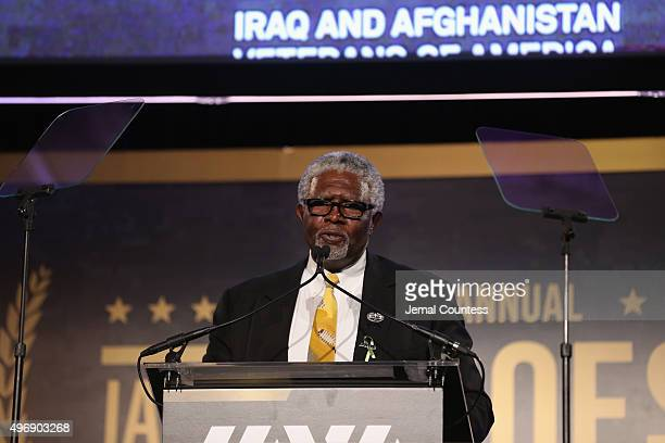 Board Member Wayne Smith speaks on stage at the 9th Annual IAVA Heroes Gala at the Cipriani 42nd Street on November 12 2015 in New York City