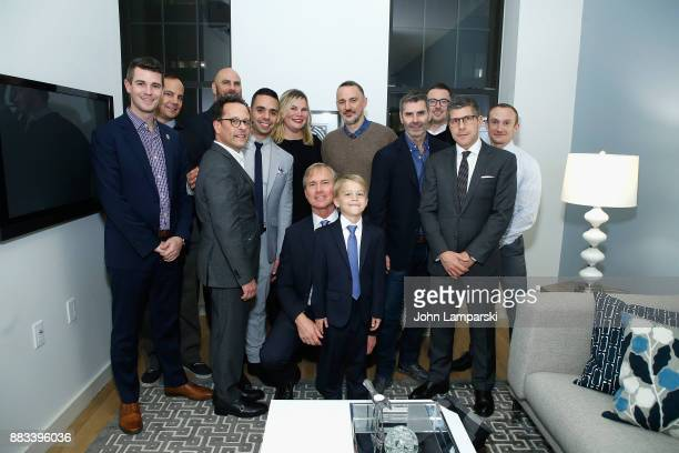 Board members and Matthew Saks and Brody Saks attend The Bea Arthur Residence Building dedication on November 30, 2017 in New York City.