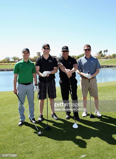 ACM board members Dusty Miller Bryan Bolton Troy Vollhoffer and Jason Young attend the 2016 ACM Lifting Lives Golf Classic presented by G Debbas...