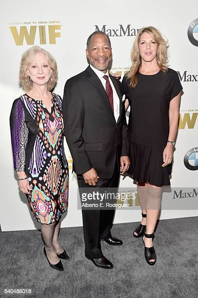 SAGAFTRA board members Ellen Crawford Mathis Dunn and Abby Dylan attend Women In Film 2016 Crystal Lucy Awards Presented by Max Mara and BMW at The...