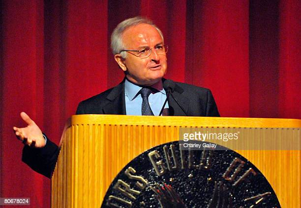 Board membert Bernard Miyet speaks onstage during the 12th annual City of Lights, City of Angels French Film Festival held at the Directors Guild of...