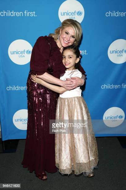 Board of DirectorsEvent Chair Ghada Irani and Bana alAbed attend the 7th Biennial UNICEF Ball on April 14 2018 in Beverly Hills California