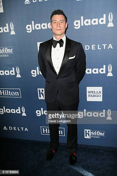 Board of Directors member Anthony Watson arrives at the 27th Annual GLAAD Media Awards at The Beverly Hilton Hotel on April 2 2016 in Beverly Hills...