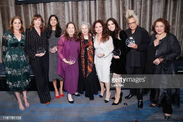 NYWIFT board of directors president Jamie Zelermyer producer Jane Rosenthal Vimeo CEO Anjali Sud actress Ann Dowd writer Margaret Atwood singer...