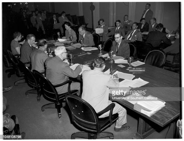 Board of Education 16 October 1951 Jim EdwardsAlex J StoddardPaul BurkeBruce FindlayRuth HilleryMrs Edith K StaffordArthur GardnerJ Paul Elliott