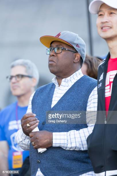 Board of Supervisors Chairman Mark RidleyThomas attends the United Way Celebrates 11th Annual HomeWalk To End Homelessness IN LA County at Los...