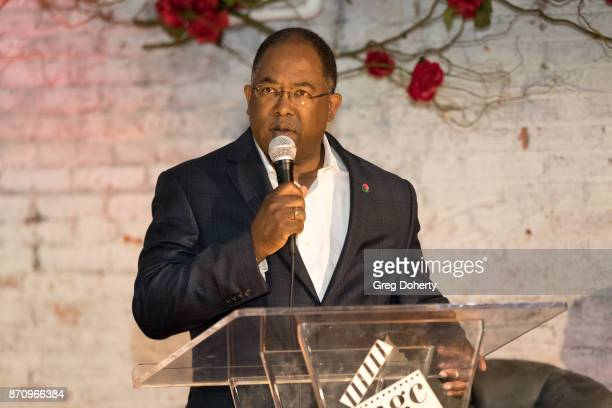 Board of Supervisors Chairman Mark RidleyThomas speaks on stage at the Wendy Raquel Robinson And Amazing Grace Conservatory's 'There's No Place Like...