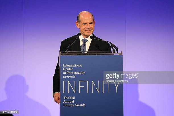 Board of Trustees President Jeffrey A Rosen speaks onstage at the International Center of Photography 31st annual Infinity Awards at Pier Sixty at...