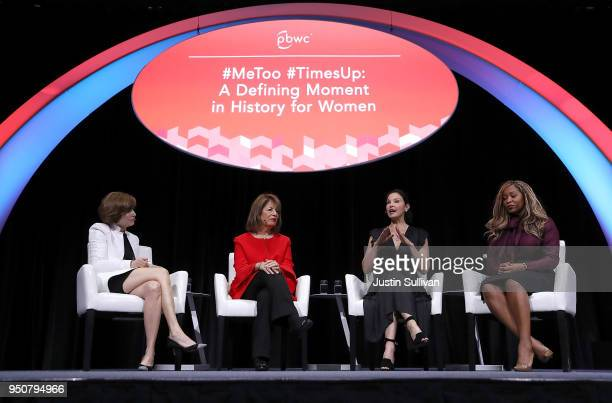 PBWC Board President and Board Chair Alexandra Roddy US Rep Jackie Speier Actress and activist Ashley Judd and CoFounder of We Said Enough Adama Iwu...