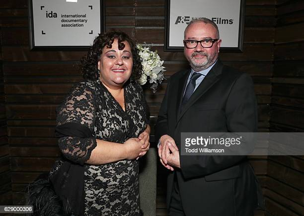 Board President Marjan Safinia and IDA Executive Director Simon Kilmurry attend the 32nd Annual IDA Documentary Awards at Paramount Studios on...