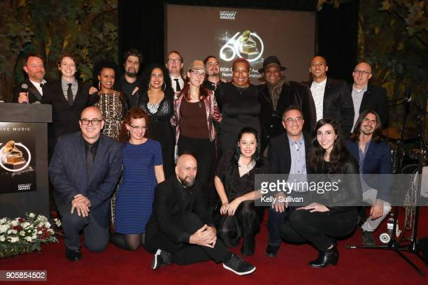 Board President Piper Payne and Executive Director of the Recording Academy San Francisco Chapter Michael Winger pose for a photo with the SF Chapter...