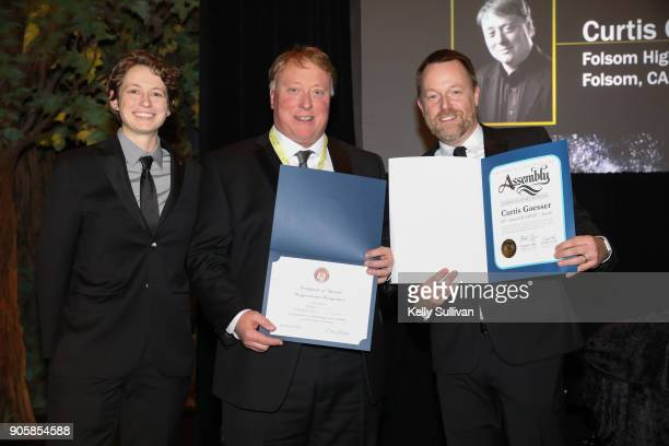 Board President Piper Payne and Executive Director of the Recording Academy San Francisco Chapter Michael Winger present Music Educator Award...