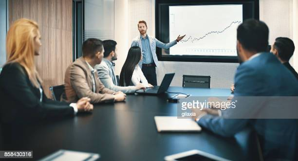 board room meeting. - finanza foto e immagini stock