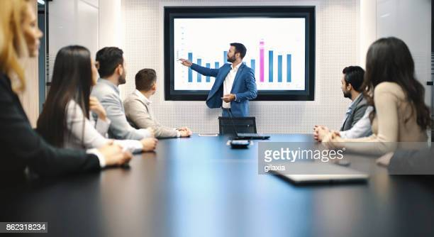 board room meeting. - presentation stock pictures, royalty-free photos & images