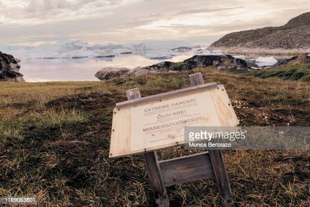 Board sign on the Ilulissat track