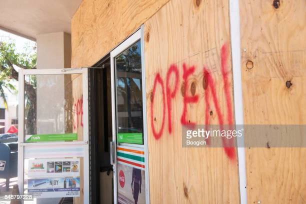 Boarded Up 7-11 Open for Business After Hurricane Irma Miami