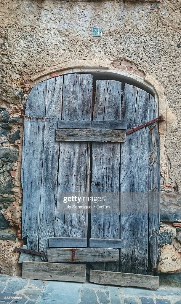 Boarded Up Door : Foto stock