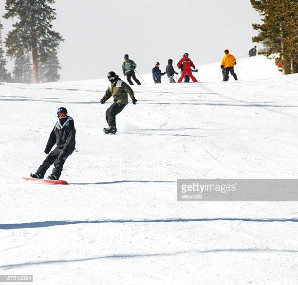 Boarders and Skiers Aplenty